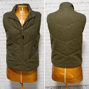 Gap Olive Quilted Puffer Vest EUC